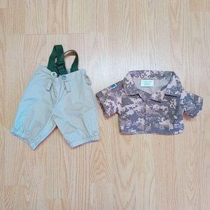 Other - Build A Bear clothes camouflage shirt tan pants